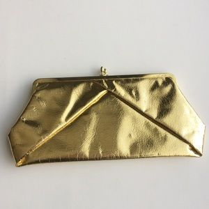 Handbags - Gold Lamé Clutch